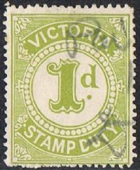 Victoria Bft82 1904 Stamp Duty 1d used